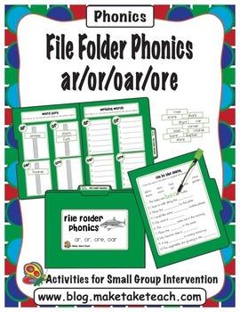 File Folder Phonics- ar/or/ore/oar
