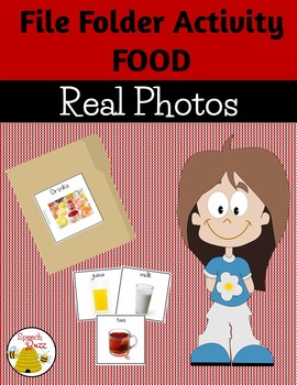 File Folder Photo Activities:  Food