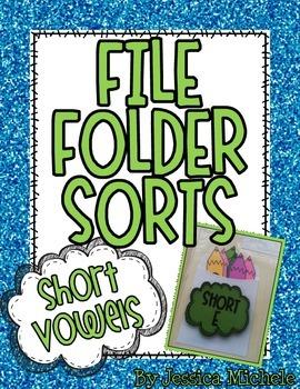 File Folder Sorts {Short Vowels}