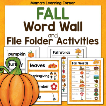 File Folder Word Wall - FALL!