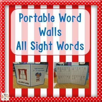 File Folder Word Walls Bundle