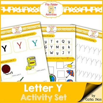 Letter Y - File Folders