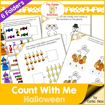 File Folder - Count With Me Activities - Halloween