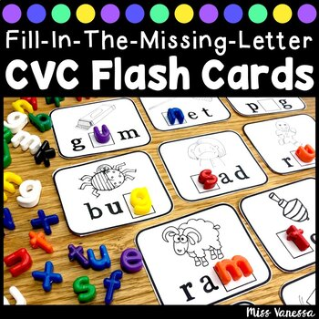 Fill-In-The-Missing-Letter ~ CVC Word Work ~ Printable Fla