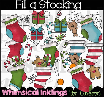 Fill a Stocking Clipart Collection