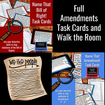 Amendments 1 - 27 Task Cards and Walk the Room - Bundle!