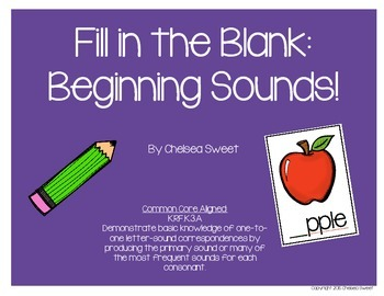 Fill in the Blank: Beginning Sounds!