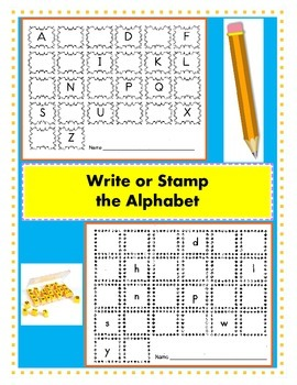 Write or Stamp the Alphabet / Alphabet Recognition / Fill