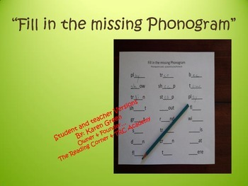 Fill in the Missing Phonograms