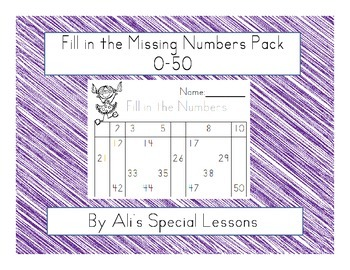 Fill in the Numbers 1-50