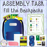 ASSEMBLY TASK Fill the Backpacks