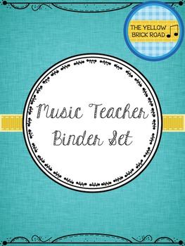 Music Teacher Binder and Planner Set