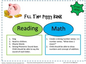 Filling The Piggy Bank - Preschool Lesson Plan Tip Sheet