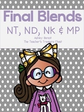 Final Blends Literacy Centers {N & MP}