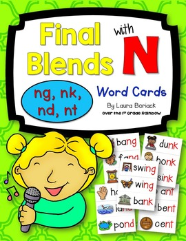 Final Blends with N (ng, nk, nd, nt) Word Cards