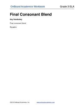 Final Consonant Blends