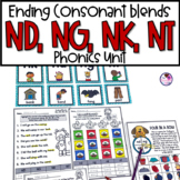 Final Consonant Blends nk, ng, nd, nt