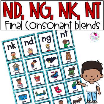 Final Consonant Blends nk, ng, nd, nt