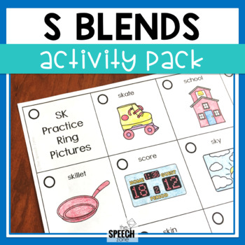 Initial S Blends Activity Pack
