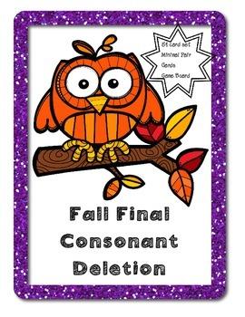 Final Consonant Deletion-Fall Theme