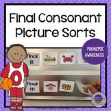 Final Consonant Picture Sorts