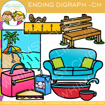 Final Digraph Clip Art: CH Words
