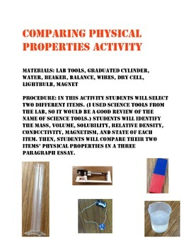 Final Physical Property Activity