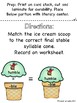 Final Stable Syllables Ice Cream Stack Literacy Center (Or