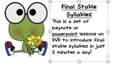 Final Stable Syllables in Just 5 Minutes a Day