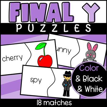 Final Y puzzles : y makes e or i sound