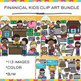 Financial Kids Clip Art Bundle