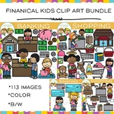 Financial Kids Clip Art Bundle