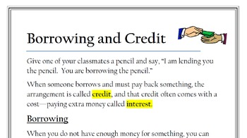 Financial Literacy Articles/Activity Bundle