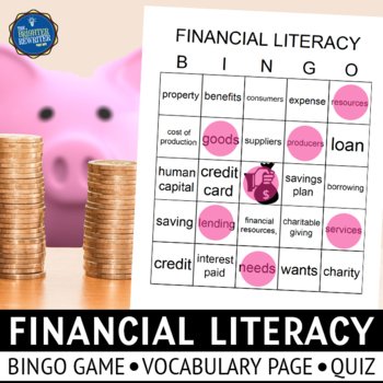 Financial Literacy Bingo