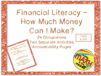 Financial Literacy - How Much Money Can I Make? TEKS 6.14H