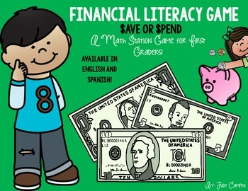 Financial Literacy Math Station Game. Perfect for *First G