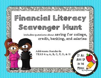 Financial Literacy Scavenger Hunt
