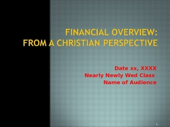 Financial Overview from a Christian Perspective - College