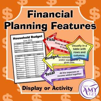 Financial Planning Features Activity or Display