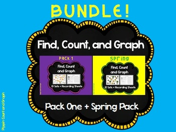 Find, Count and Graph - BUNDLE Graph Sets and Recording Sh