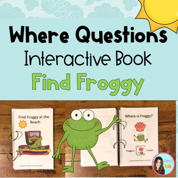 Find Froggy Interactive Book with Spatial Prepositions Whe