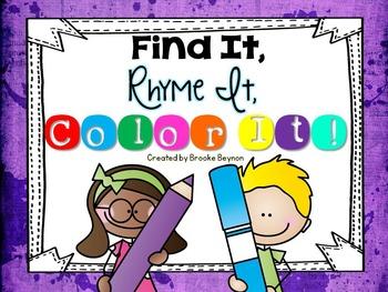 Find It, Rhyme It, Color It!