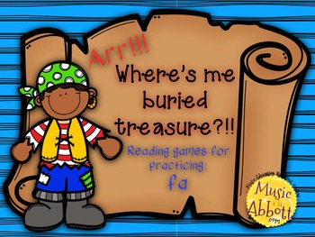 Find Me Buried Treasure: Four Games for Practice fa in the