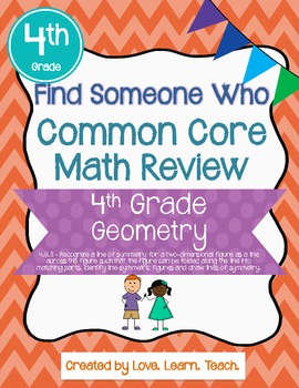 Find Someone Who - 4.G.A.3 - Symmetry - Common Core Math