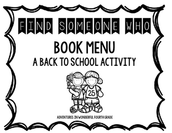 Find Someone Who...All About Books: A Back to School Activity