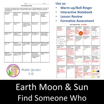 Find Someone Who (Earth Moon Sun)