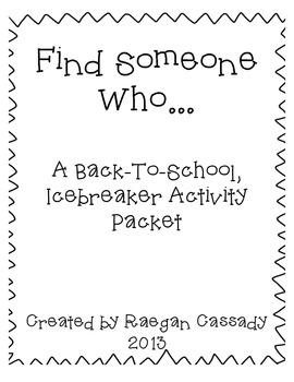 Find Someone Who - Freebie