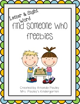 Find Someone Who {Freebies}