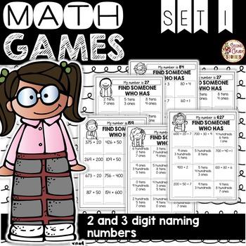 Place Value Math Games ~ Set 1: Expanded Notation Base Ten