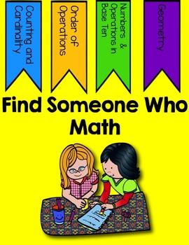 Find Someone Who- Kindergarten Math